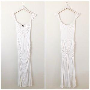 Sky Ruched Maxi Dress
